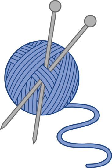 blue yarn and knitting needles a few of my favorite things rh pinterest com