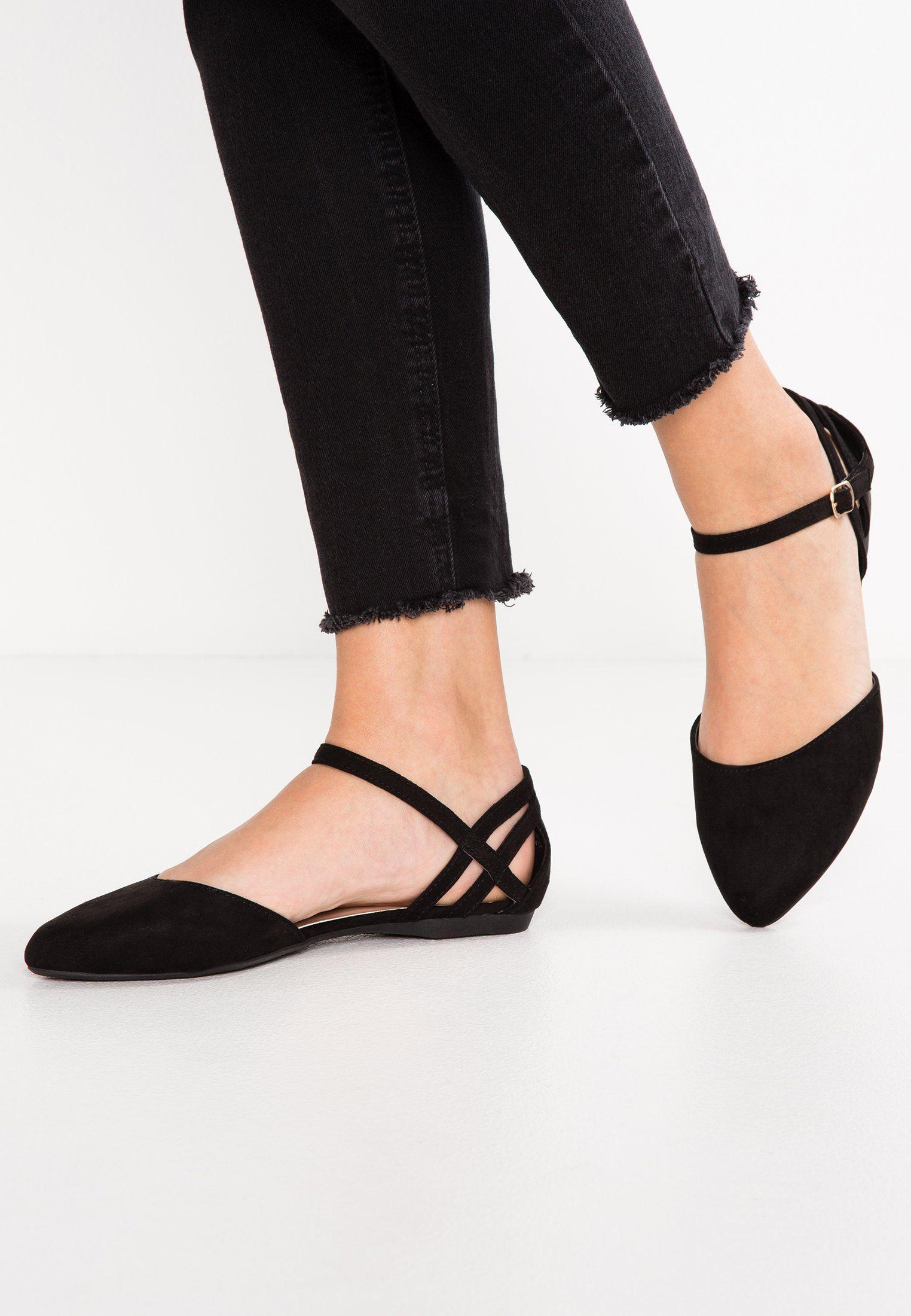 New Look Wide Fit Wide Fit Katch Baleriny Black Za 109 Zl 01 03 18 Zamow Bezplatnie Na Zalando Pl Black Shoes Fitness