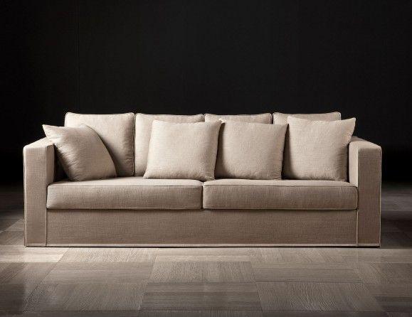 Lusso Helmut Luxury Italian Designer Sofa Upholstered in Sand Taupe ...