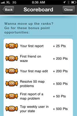 Waze points system cheat