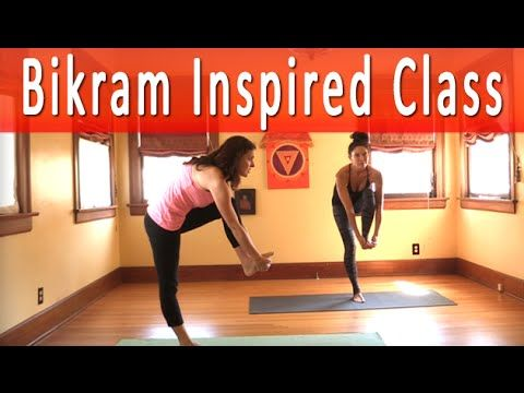 60 minute bikram inspired yoga class with maggie grove for