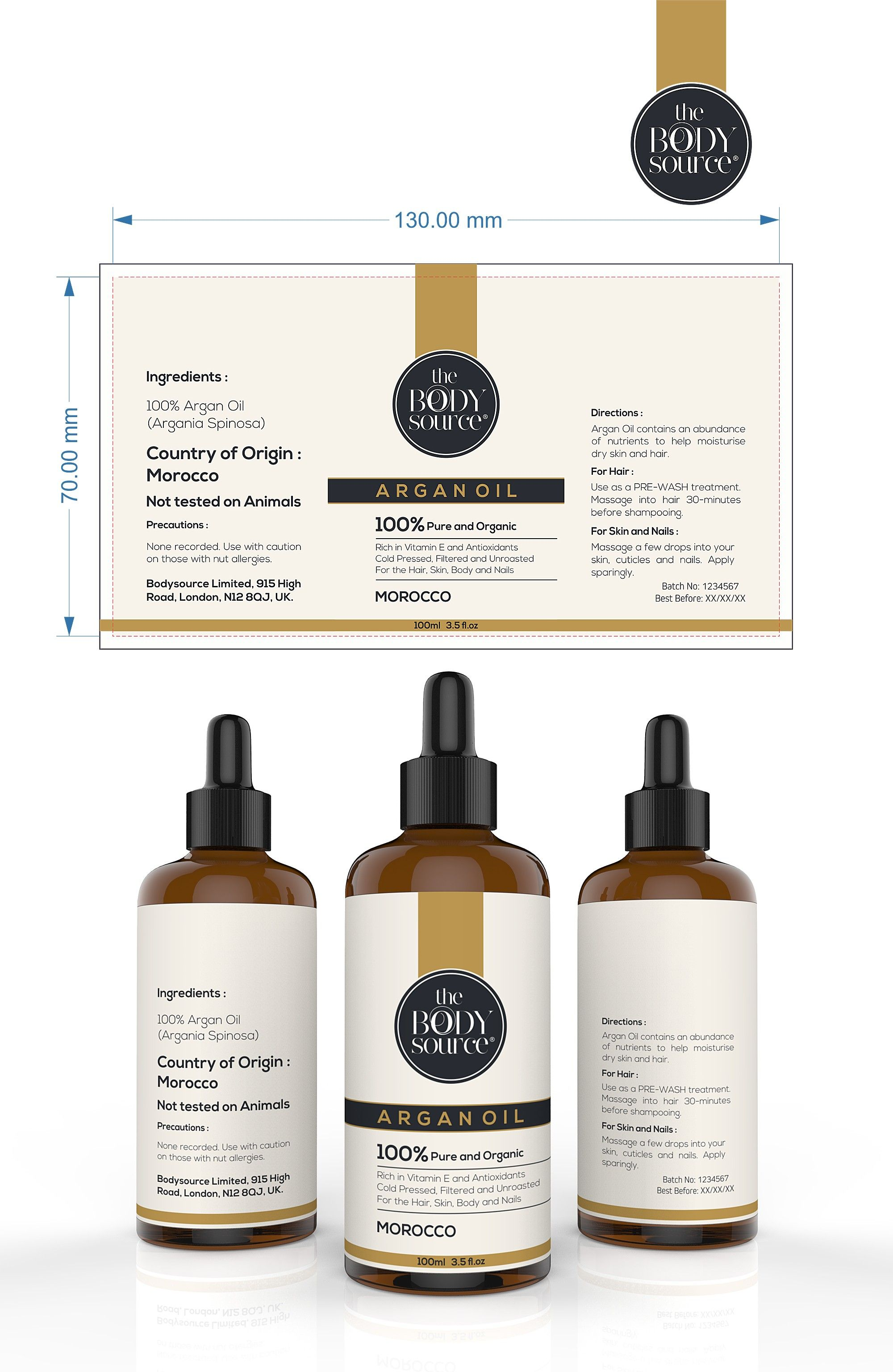 Clean And Minimal Label For A Luxurious Cosmetics Bottle 99designs Cosmetic Labels Design Cosmetic Packaging Design Shampoo Bottles Design