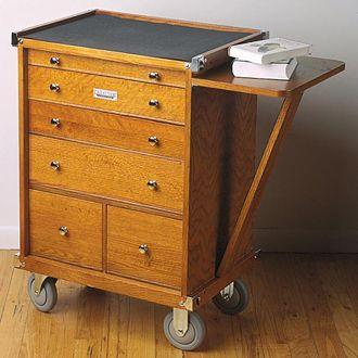Gerstner Medium Rolling Chest Wood Storage Cabinets