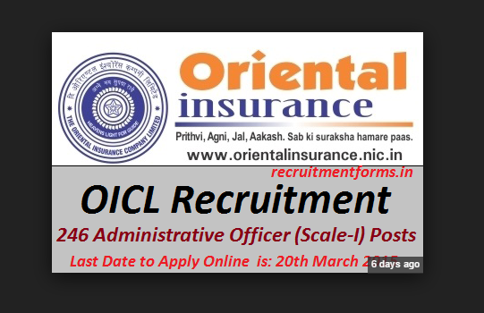 Oriental Insurance Company Recruitment 2015 For Generalist Officer