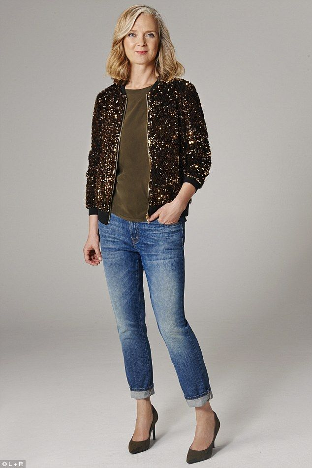 Casual Glamour | Slip on an eye-catching metallic or animal print jacket over a black shirt and cigarette pants. Team a sequinned pencil skirt with a T-shirt and sharply tailored blazer. Wear a silk blouse with jeans and metallic pumps. | Wardrobe essentials: A leopard-print coat, jeans in a variety of cuts from boyfriend to skinny, a patterned pencil skirt, a denim shirt, metallic leather ankle boots and printed or brocade trousers.