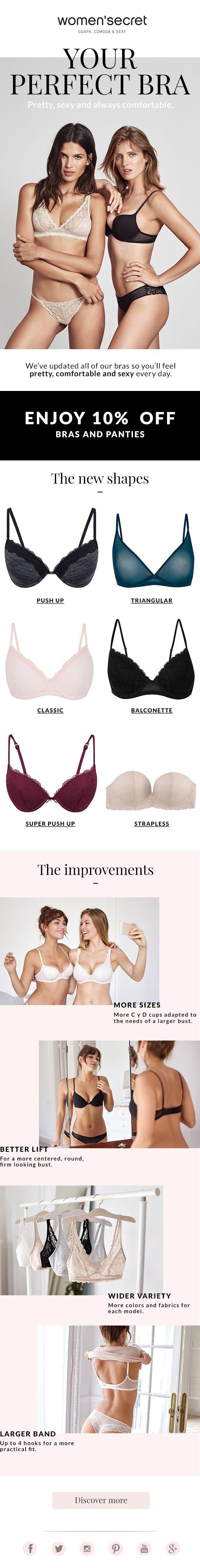 your perfect bra. women'secret newsletter.