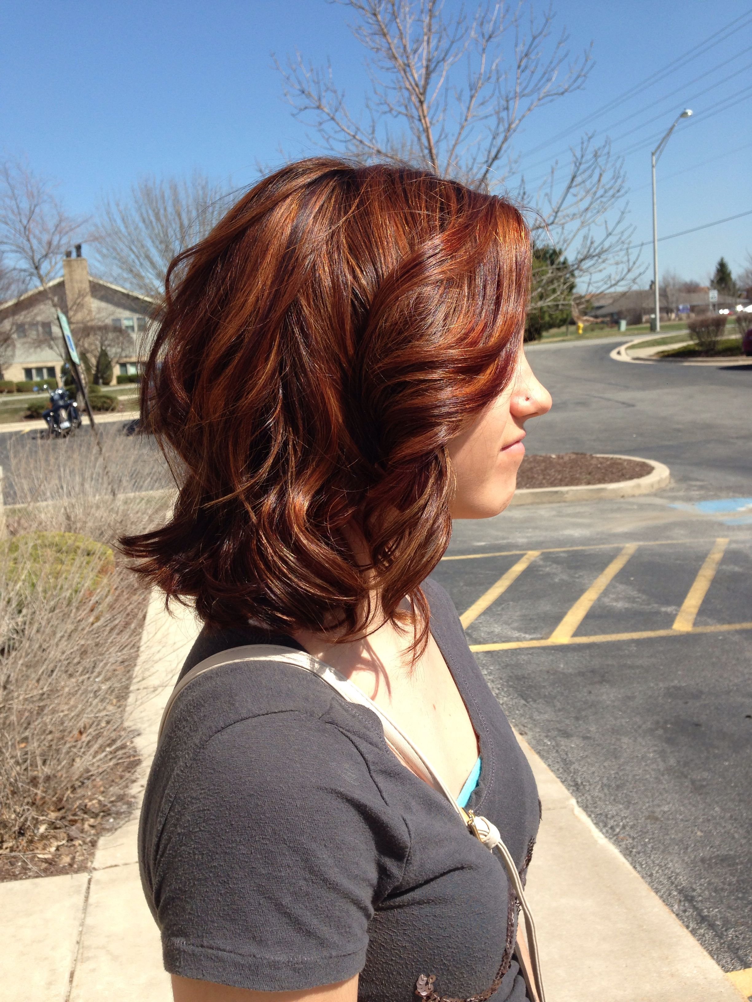 Spring Copper Highlights Redken Hair And Beauty