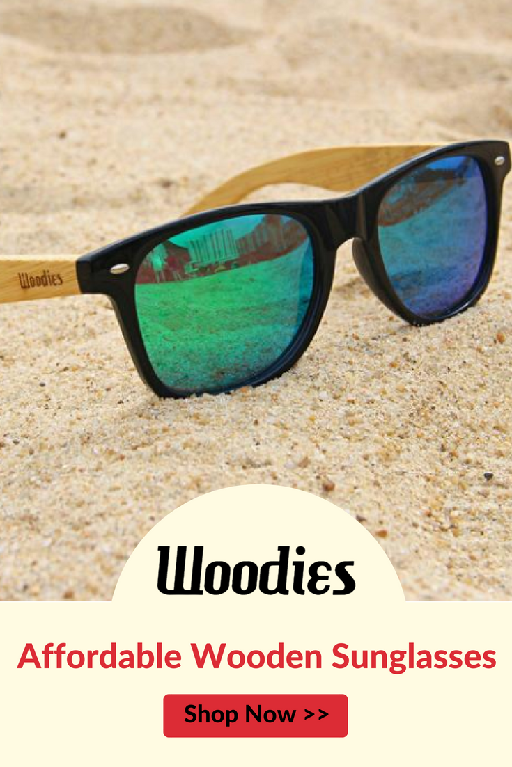 d42d51b152 Woodies Bamboo Wood Sunglasses with Mirror Lens offer a combination of 100%  real bamboo arms that support a wayfarer style plastic frame.