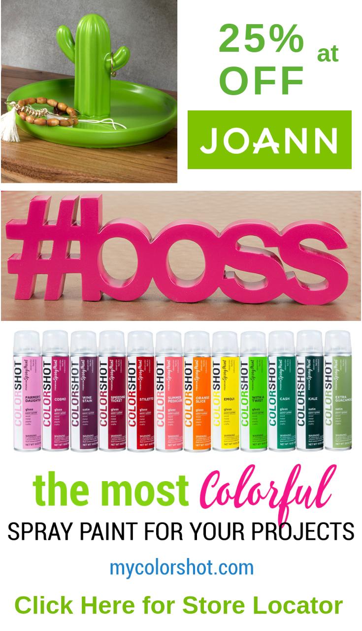 Get 25 Off Colorshot Premium Spray Paint In Joann Stores In Store