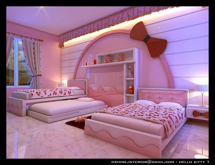 Dream Rooms For Girls and this is my dream room, all hello kitty <3 as like my age not