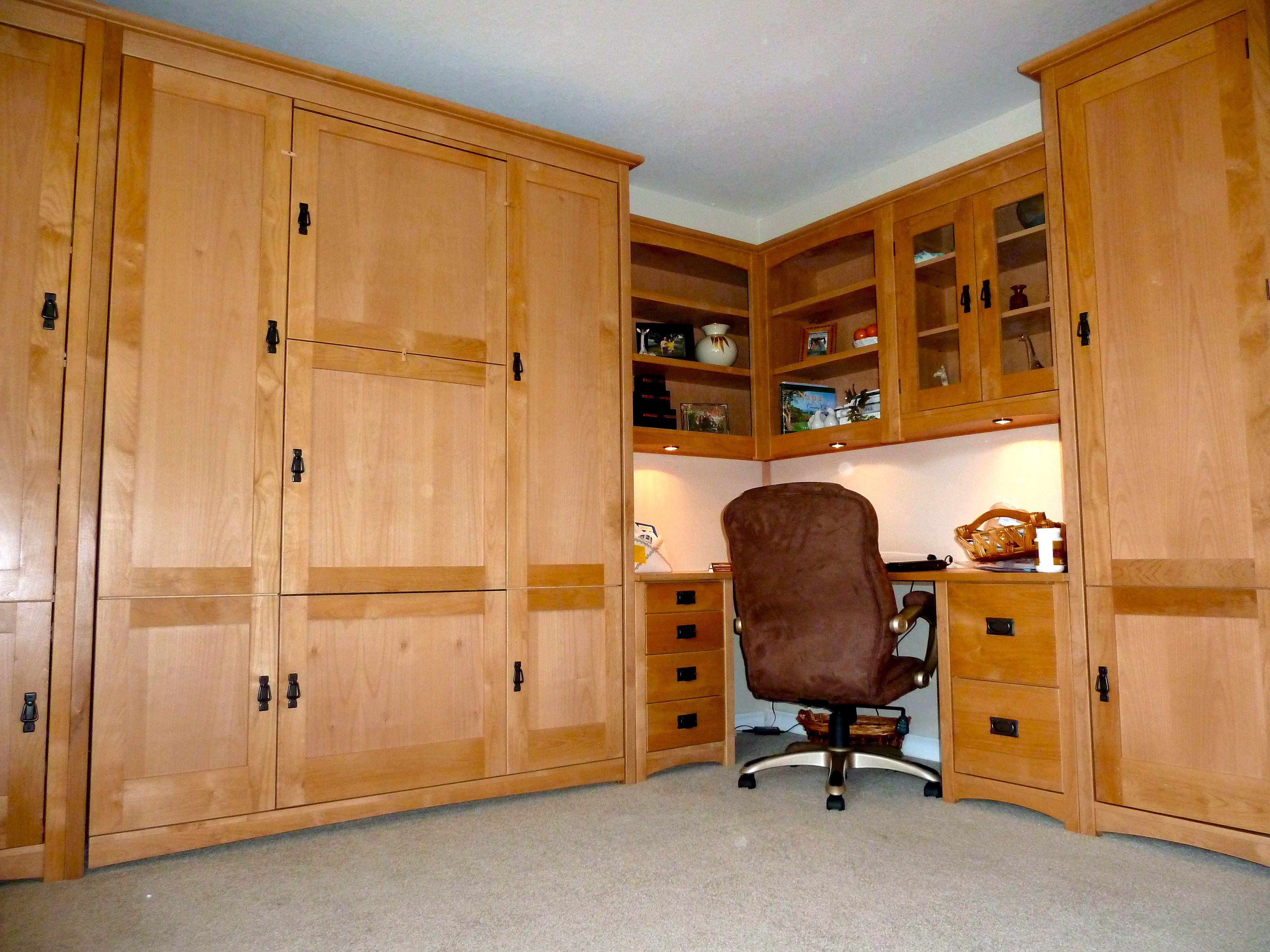 7Door Craftsman Murphy Wall Bed with hidden drop down