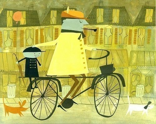 Monsieur Hulot Mon Oncle 16x20 limited edition print by matteart, $85.00