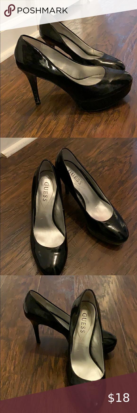 Guess Pump Heels Used Condition In 2020 Pumps Heels Heels Shoes Women Heels