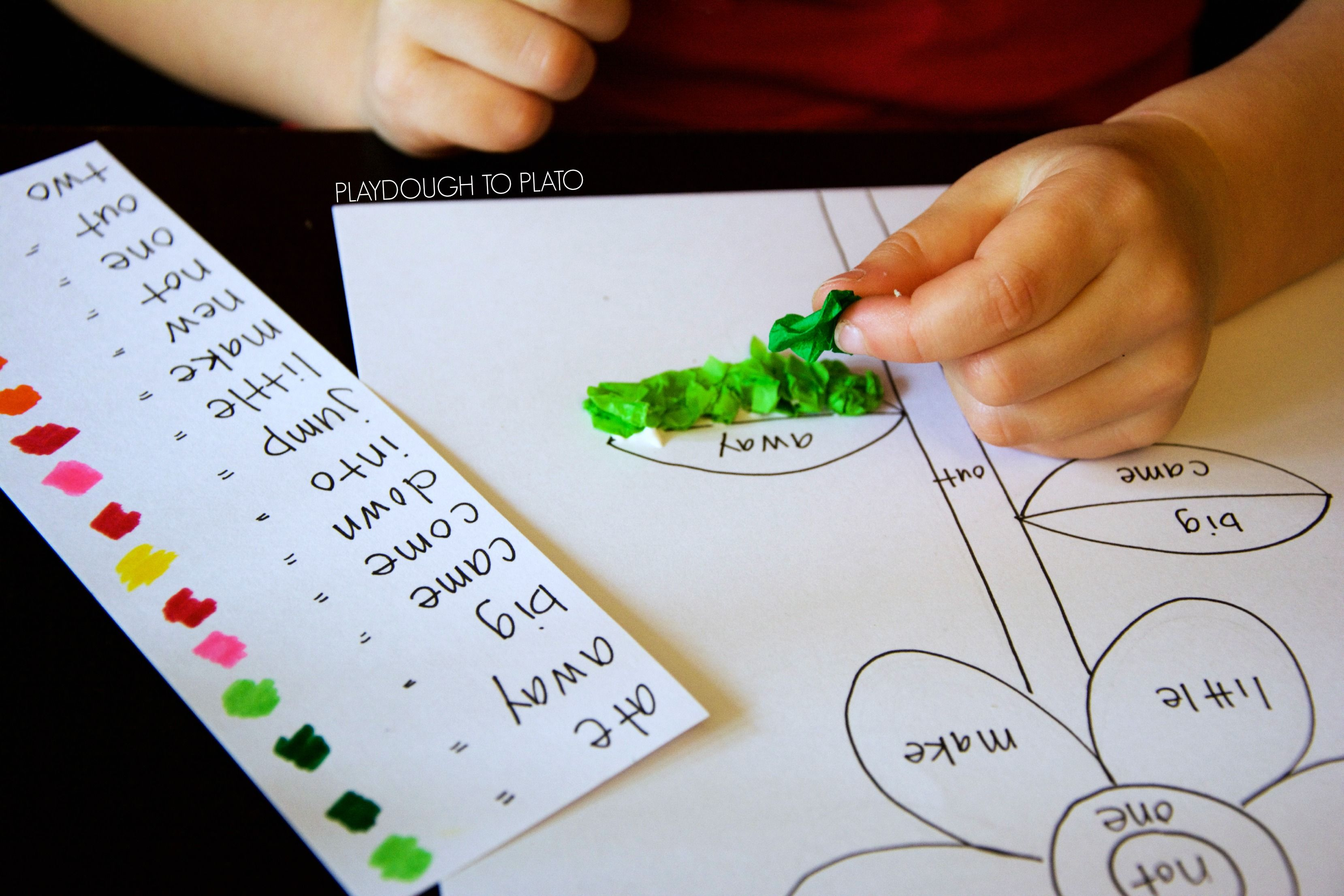 Tissue Paper Sight Word Craft | Learning Literacy | Pinterest