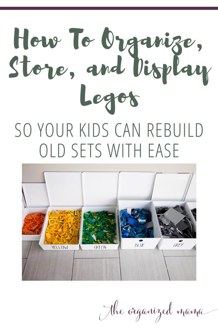 How To Organize, Store, and Display Legos So Kids Can Rebuild Old Sets With Ease