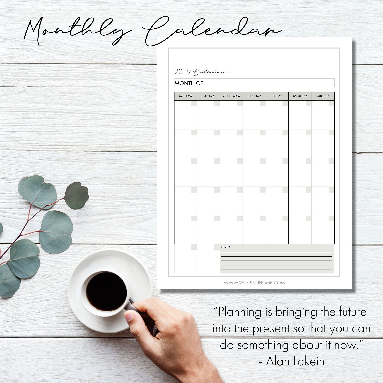 Calendar Monday Start, Calendar, Calendar, Printable