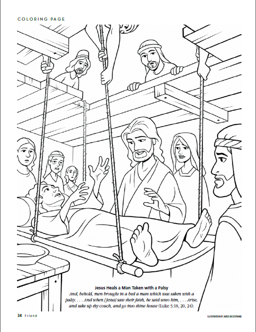 Coloring Picture Of Jesus Healing The Paralytic