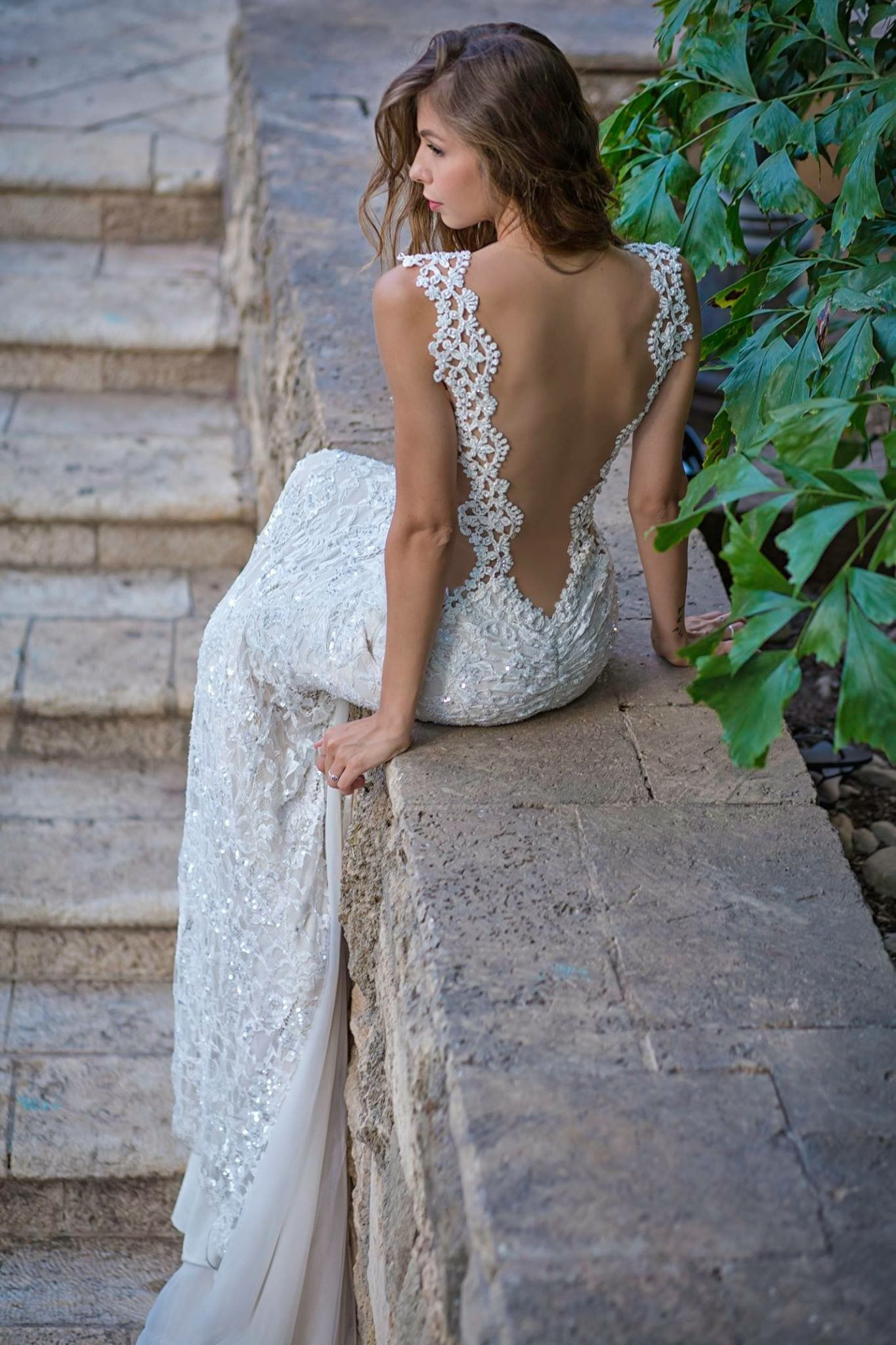 Embroidered lace wedding dress  Pin by Brittany Smythe on Wedding Dresses  Pinterest  Wedding