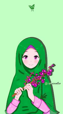Onedirectionmylifeeveryday Wallpaper Gambar Kartun Muslimah Cantik