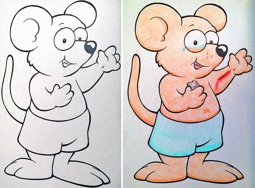 Funny Children Coloring Book Corruptions 1 Old Comics Coloring
