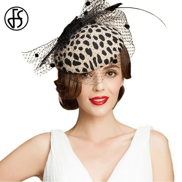 FS British Ladies Hat For Wedding Gray Party Formal