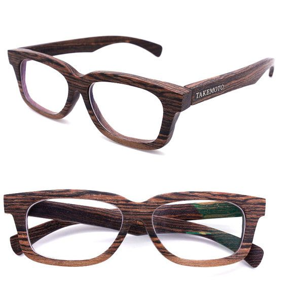 AUTUMAN custom made handmade two-tone wood eyeglasses wooden glasses ...