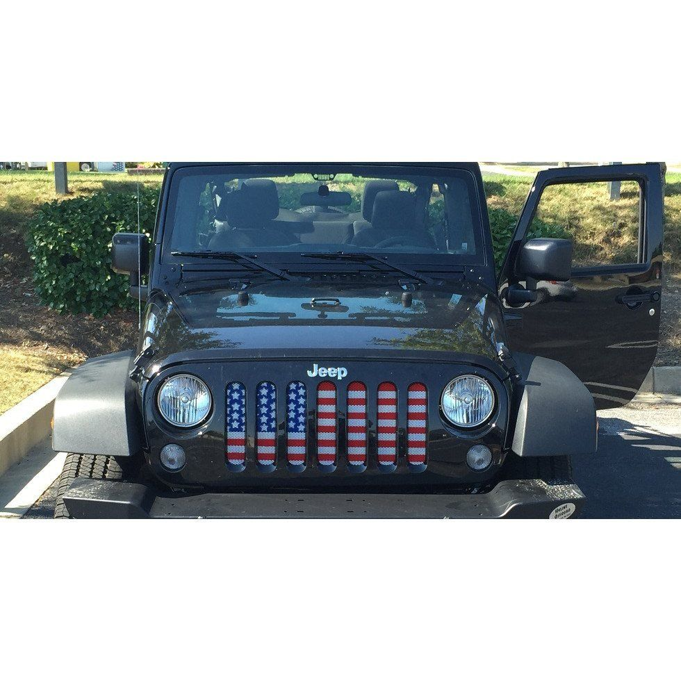 American Flag Jeep Grill Jeep Grill Jeep Jeep Life