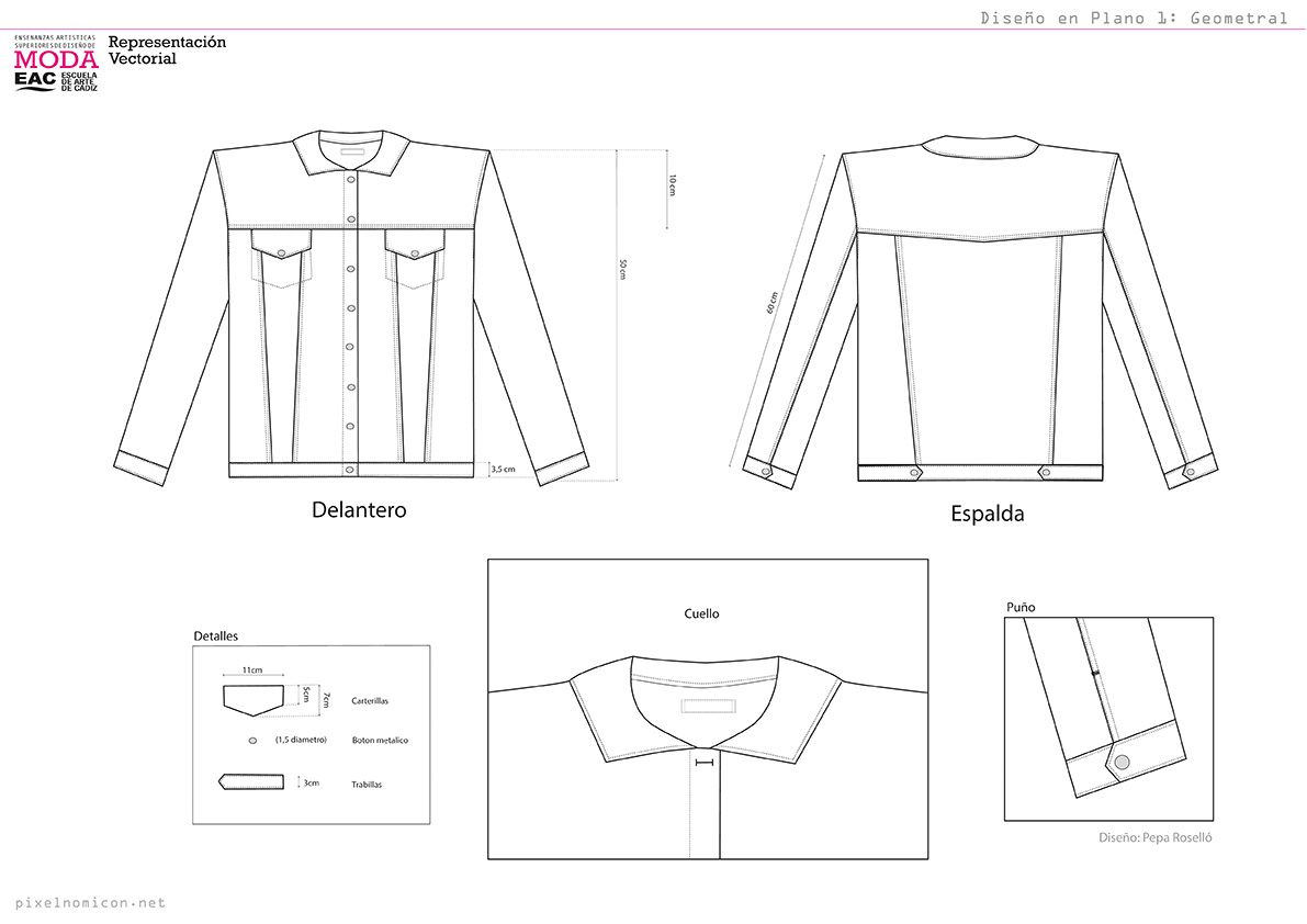 Diseño en Plano 1: Geometral. pixelnomicon.net | Dibujos planos ...