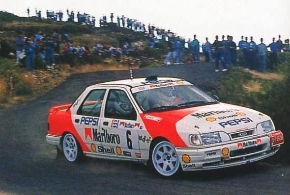 Luis Monzon Ford Sierra 4x4 Ras Coche De Rally Ford Sierra Rally