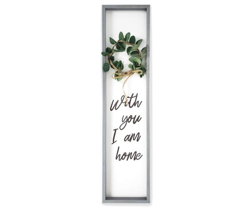 I Am Home Framed Plaque With Wreath Big Lots In 2020 Wall Plaques Medallion Wall Art Frame Wall Decor