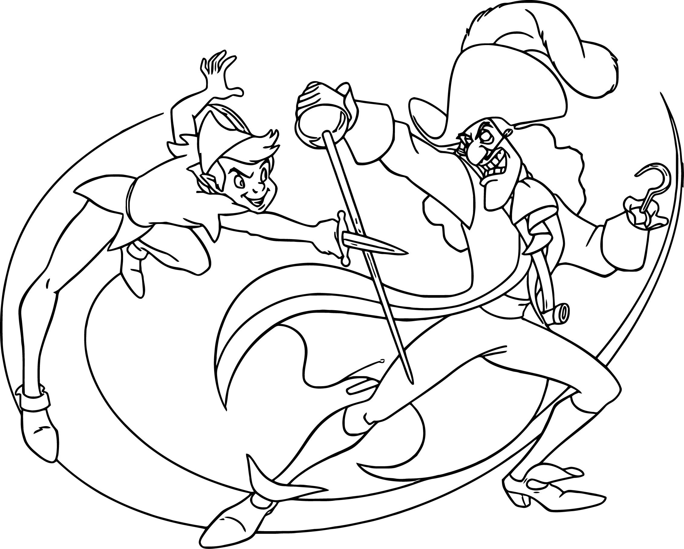 Nice Peter Pan And Captain Hook Coloring Pages Peter Pan Coloring Pages Disney Coloring Pages Cartoon Coloring Pages