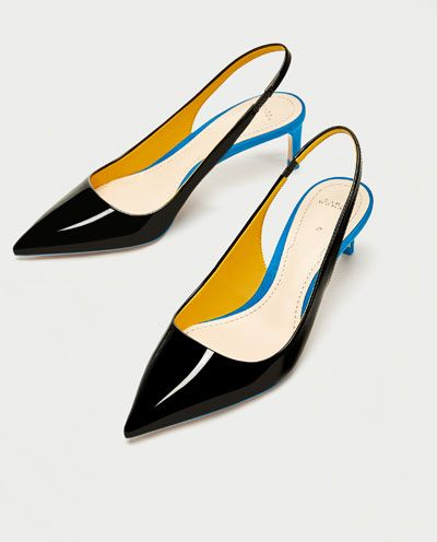 Image 5 of CONTRAST MID-HEEL SHOES from Zara