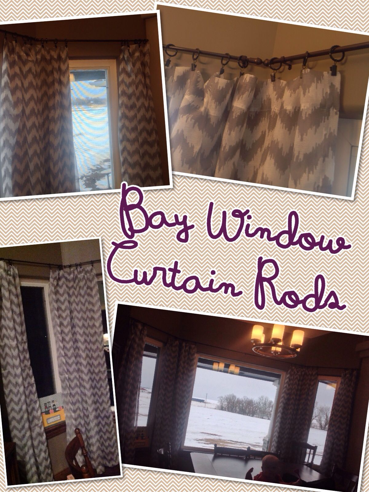 After Searching For A Bay Window Curtain Rod I Came Up