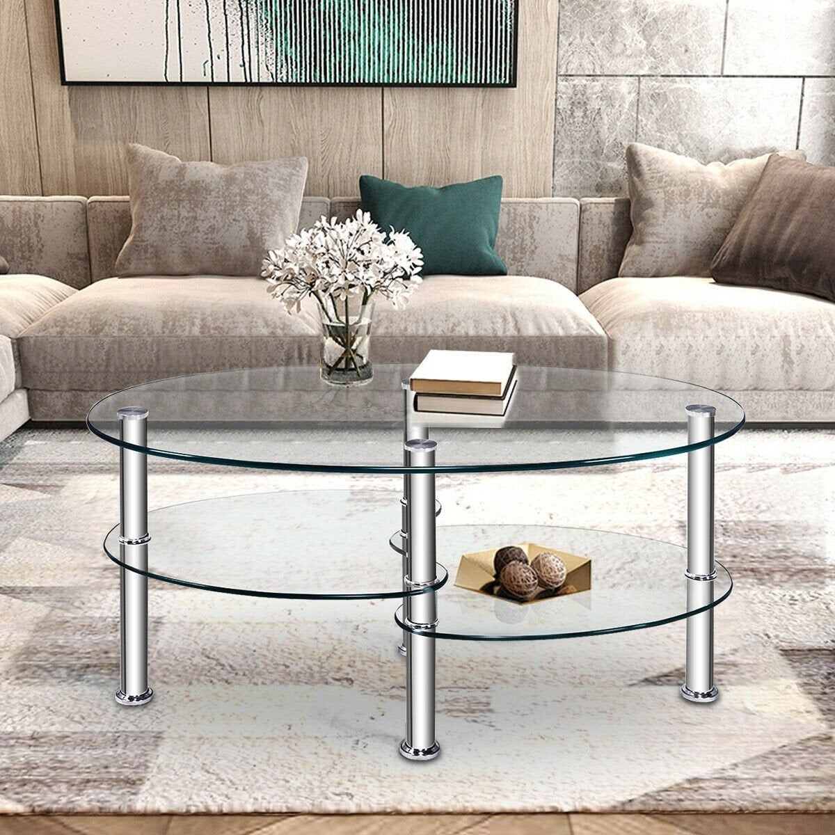 Modern Tempered Glass Oval Side Coffee Table Center For Living Etsy In 2021 Coffee Table Side Coffee Table Elegant Coffee Table [ 1200 x 1200 Pixel ]