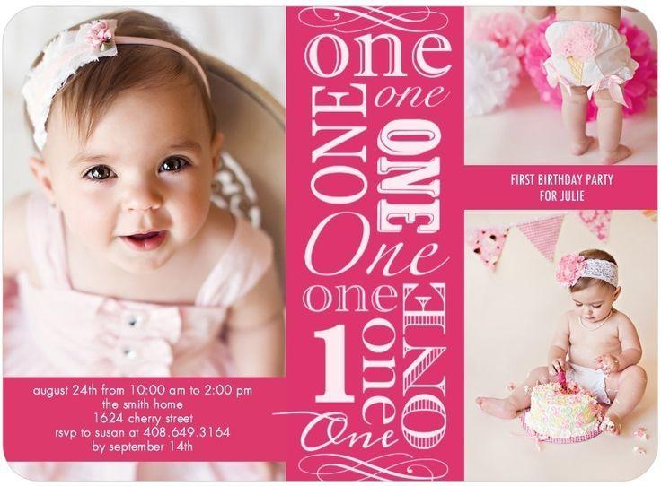 nice One Year Old Birthday Party Invitations Birthday Invitation
