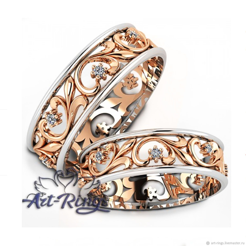 Свадебные украшения ручной работы. Заказать Обручальные кольца парные  Артикул 322. Обручальные кольца Art- 969f02d4bbd
