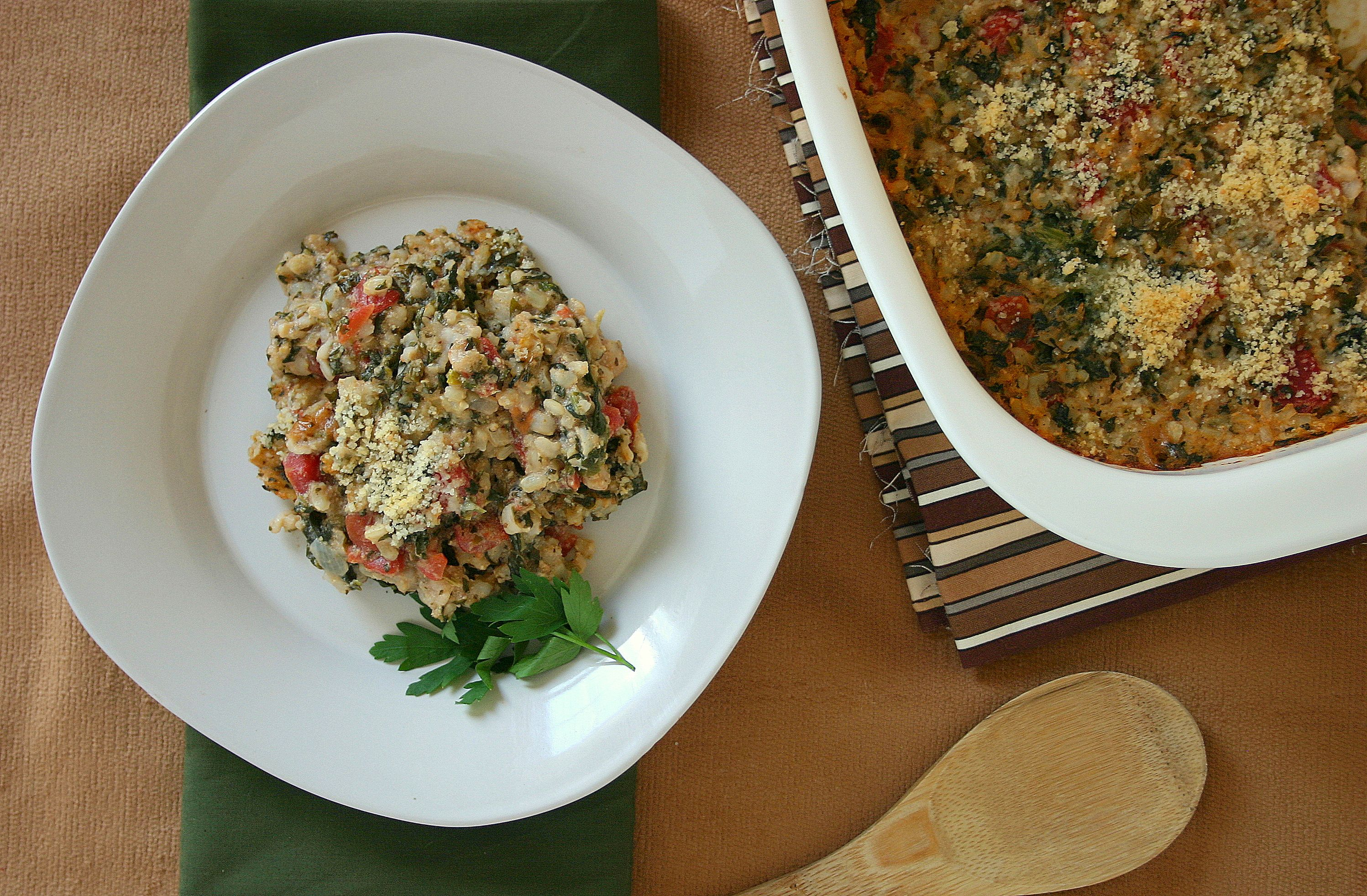Hearty Baked Spinach And Tofu Casserole: http://ow.ly/cc7H0
