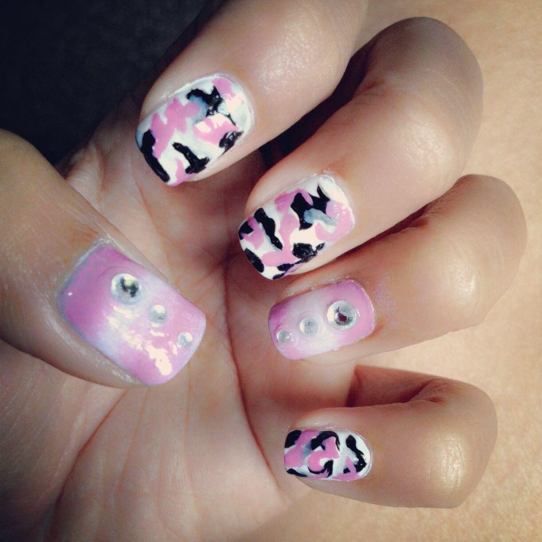 Pink Camo Nail Art Nail Arts Pinterest Pink Camo Nails Camo