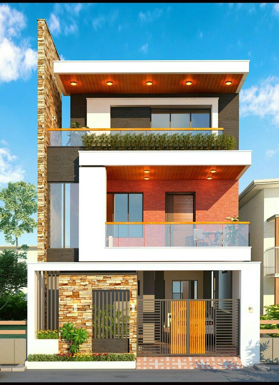 Façade | 3 storey house design, House designs exterior ...