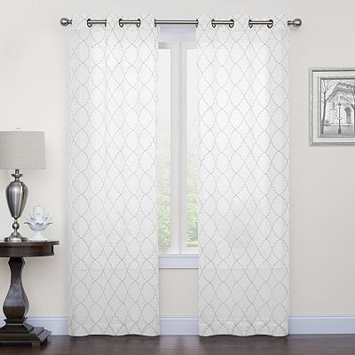 Regent Court 2 Pack Fret Embroidery Curtain