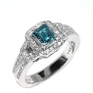 vintage blue diamond wedding rings wedding rings - Blue Diamond Wedding Rings