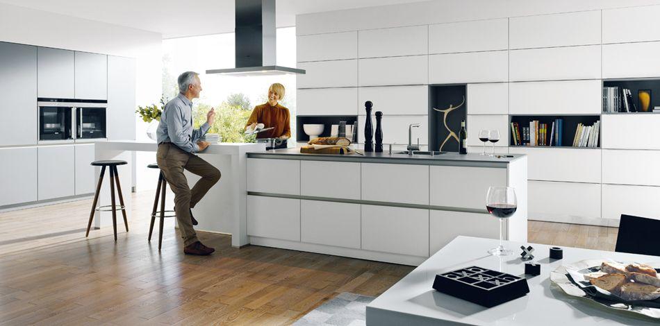 Schüller Küche - Glas matt kristallweiß | Contemporary Living ...
