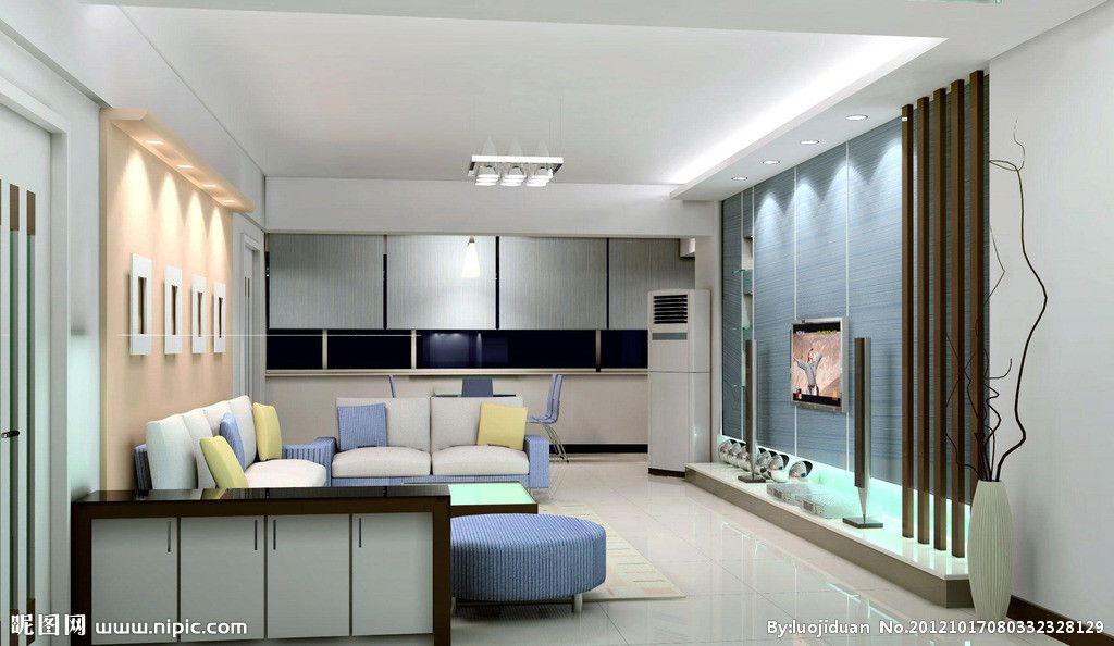 Modern Style Living Room TV Background Wall Designs