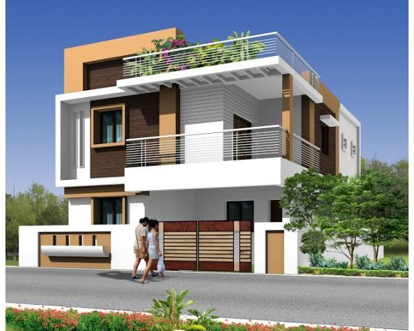 Front Elevation Wall : Modern duplex house google search facade in
