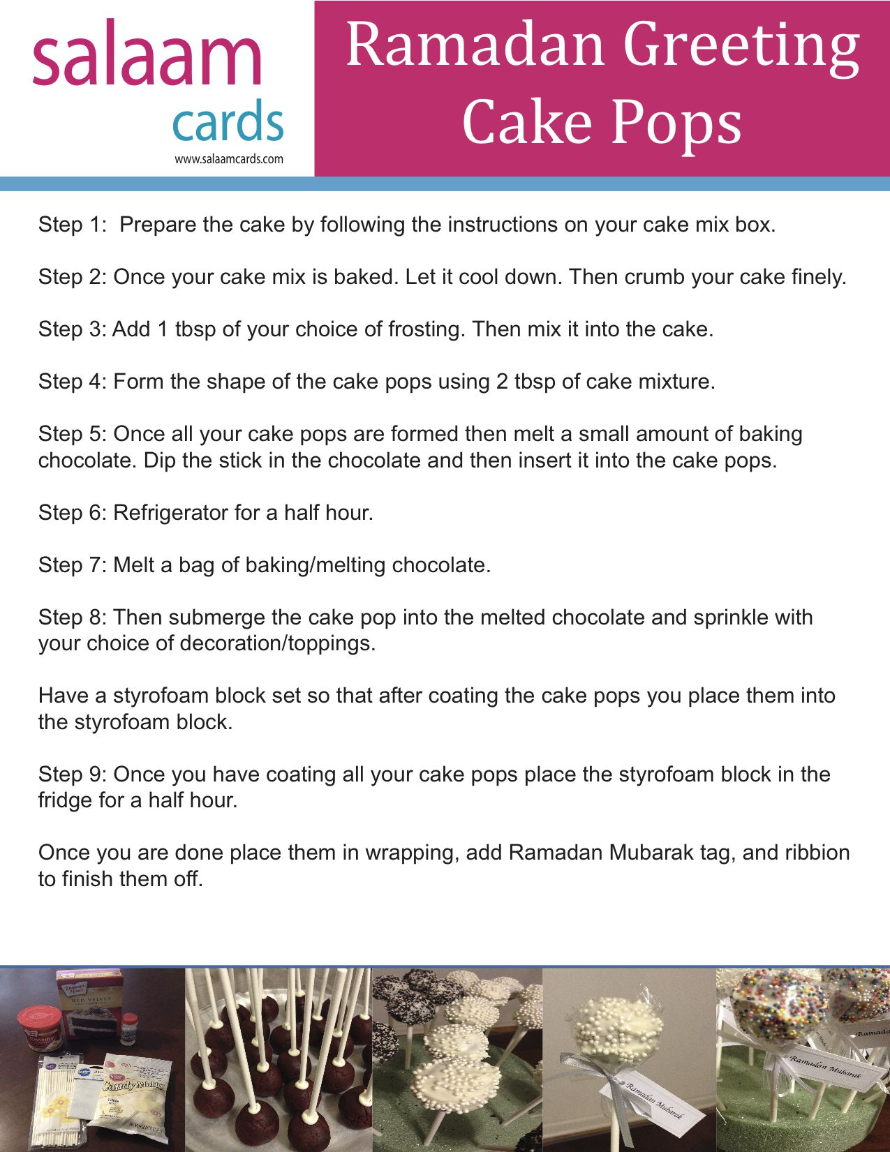 How To Guide Ramadan Greeting Cake Pops Ramadangreeting Cakepops