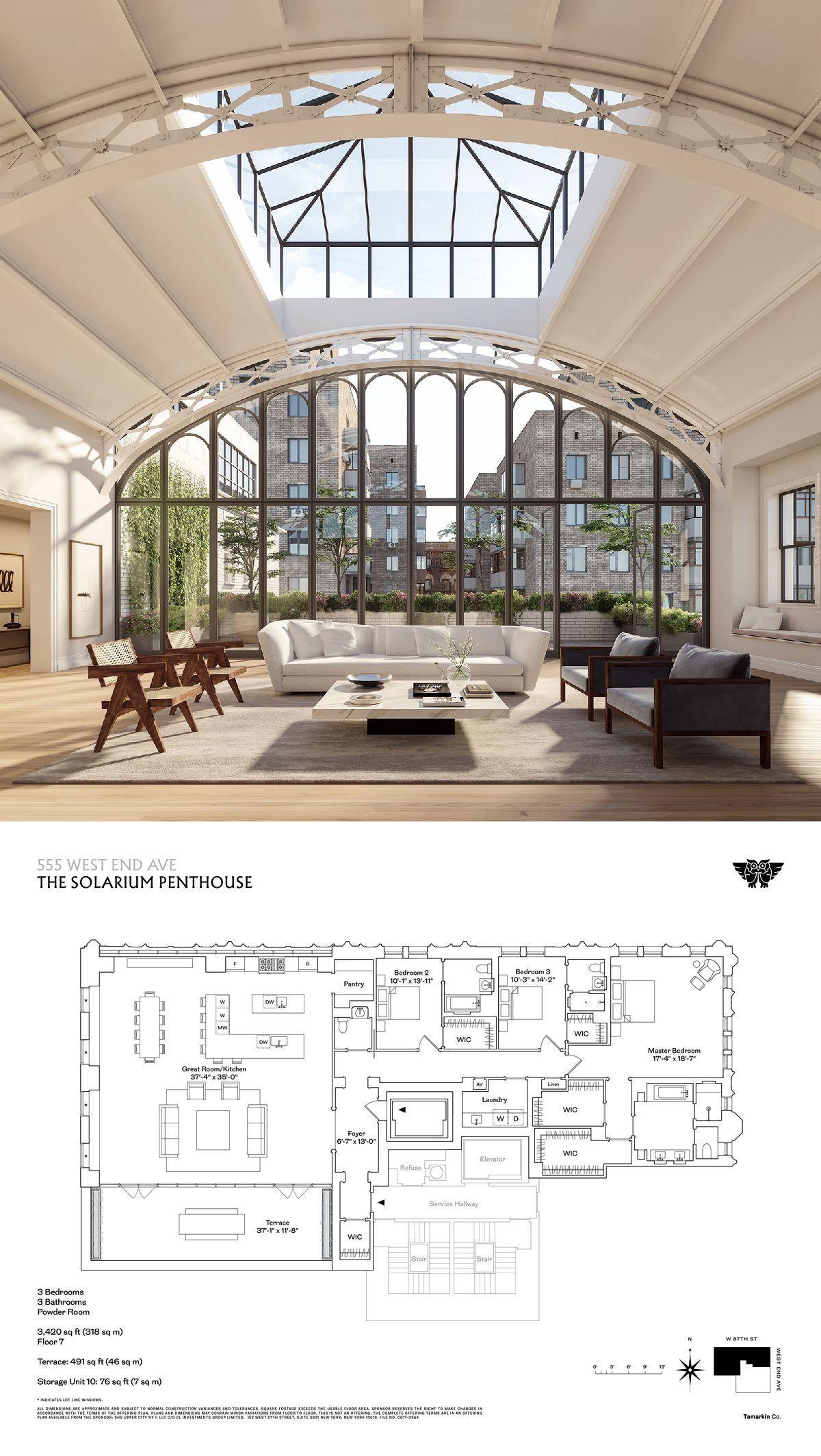 555 West End Avenue The Solarium Penthouse Penthouse Apartment Floor Plan Loft Floor Plans Penthouse Apartment Interior