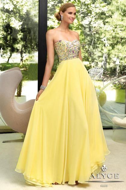Alyce yellow prom dress – Dress online uk