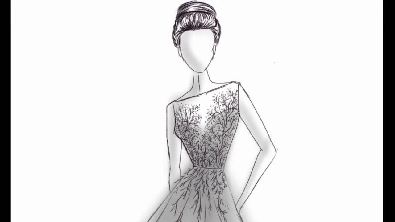 خطوات رسم المانيكان و تصميم فستان Fashion Illustrations Design Ske Art Male Sketch