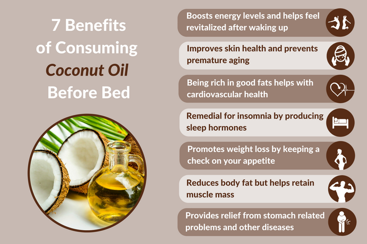 7 Reasons To Consume Coconut Oil Before Bed