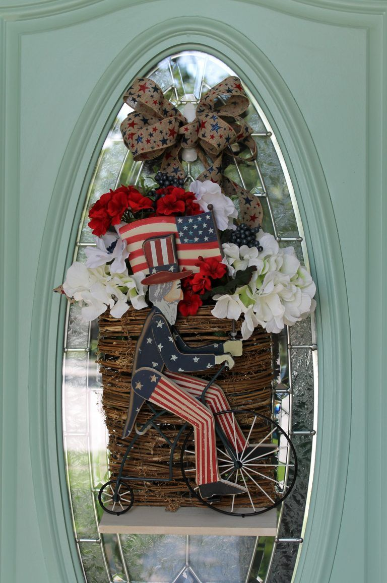 Patriotic door decor in just minutes holidays and party food
